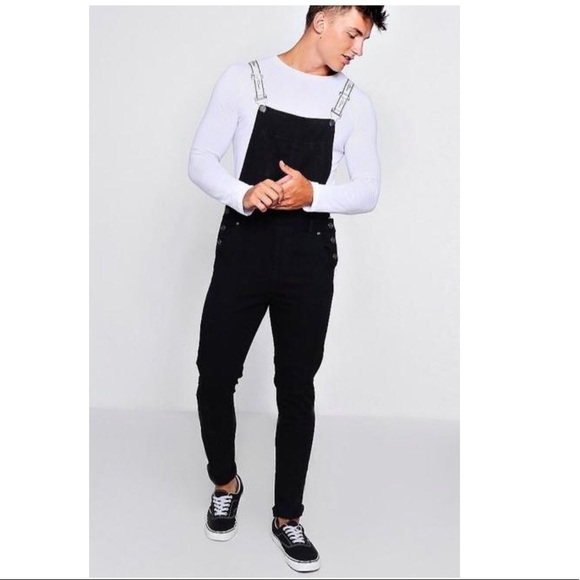 d9f8416550021 Boohoo Jeans | Mens Dungaree Overalls Skinny Fit In Black | Poshmark